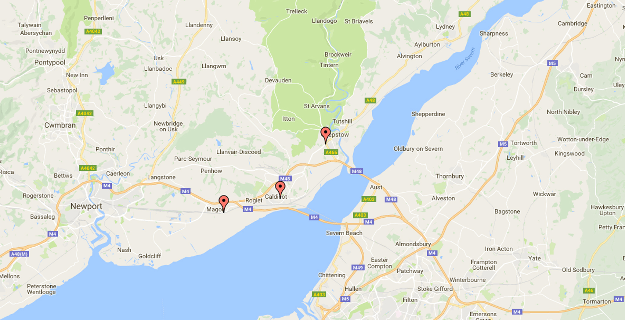Map showing locations of Marlow Vet Surgeries